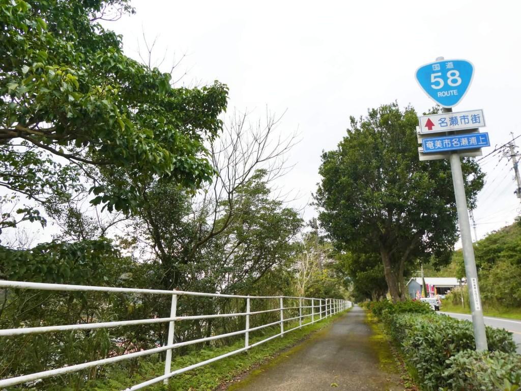 奄美大島国道58号線