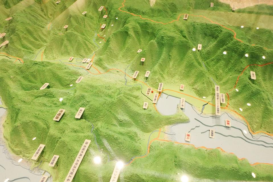 龍郷町全景となる大きな模型