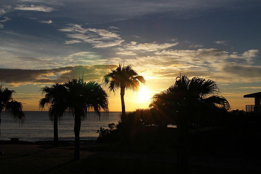 奄美大島の夕方の景色
