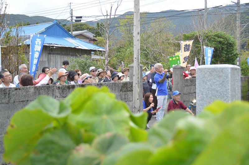 奄美の龍郷町の西郷さんのイベントの様子