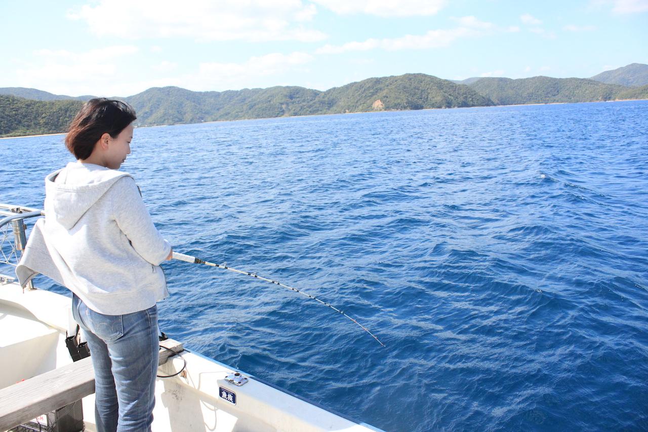 奄美で釣り