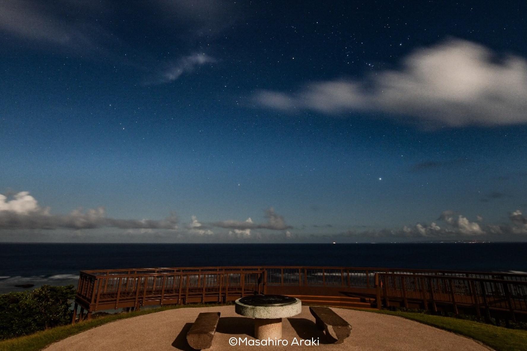 あやまる岬観光公園展望デッキから見える星空の写真001_07 のコピー