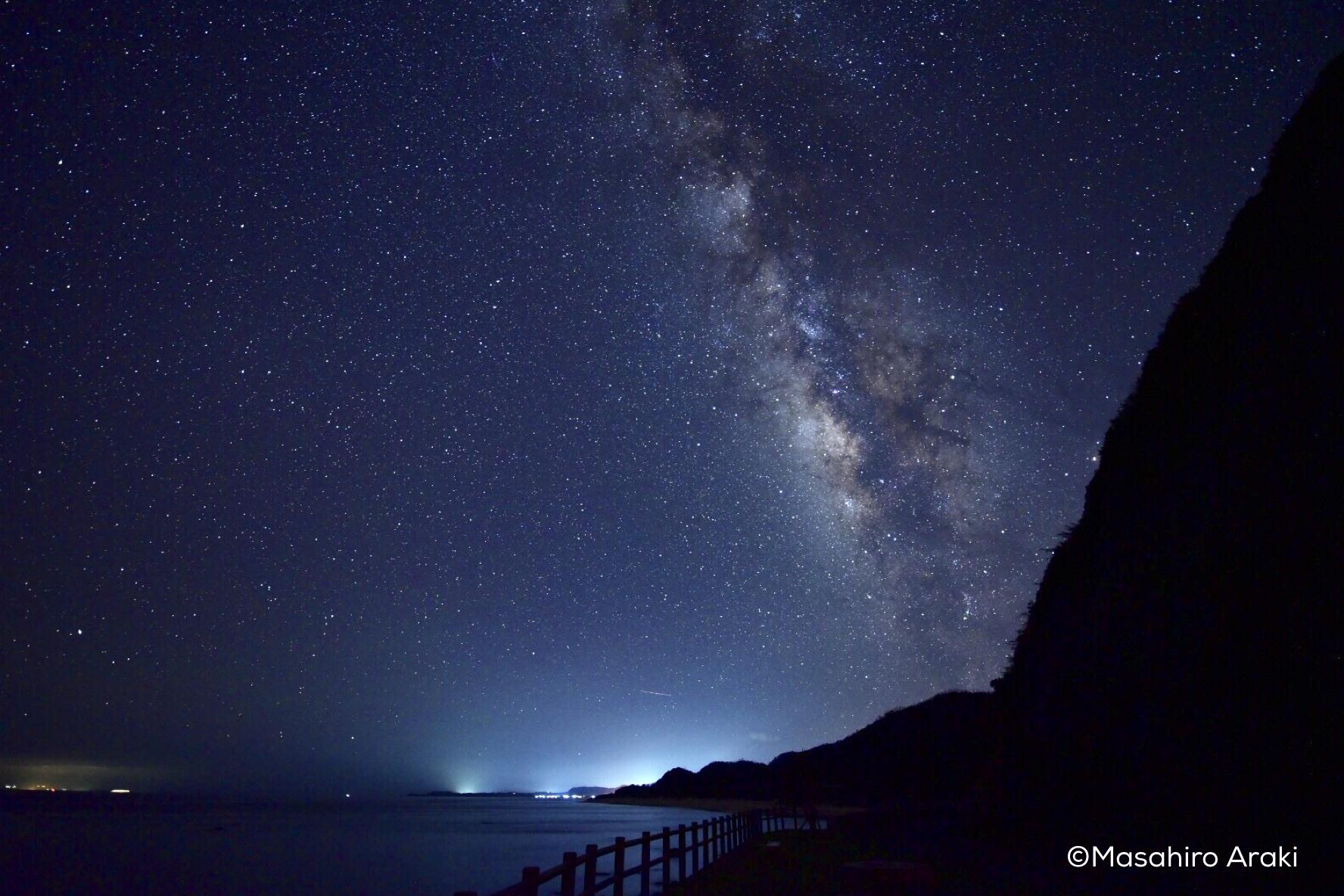 あやまる岬観光公園からみえる南側の星空の写真001_12 のコピー