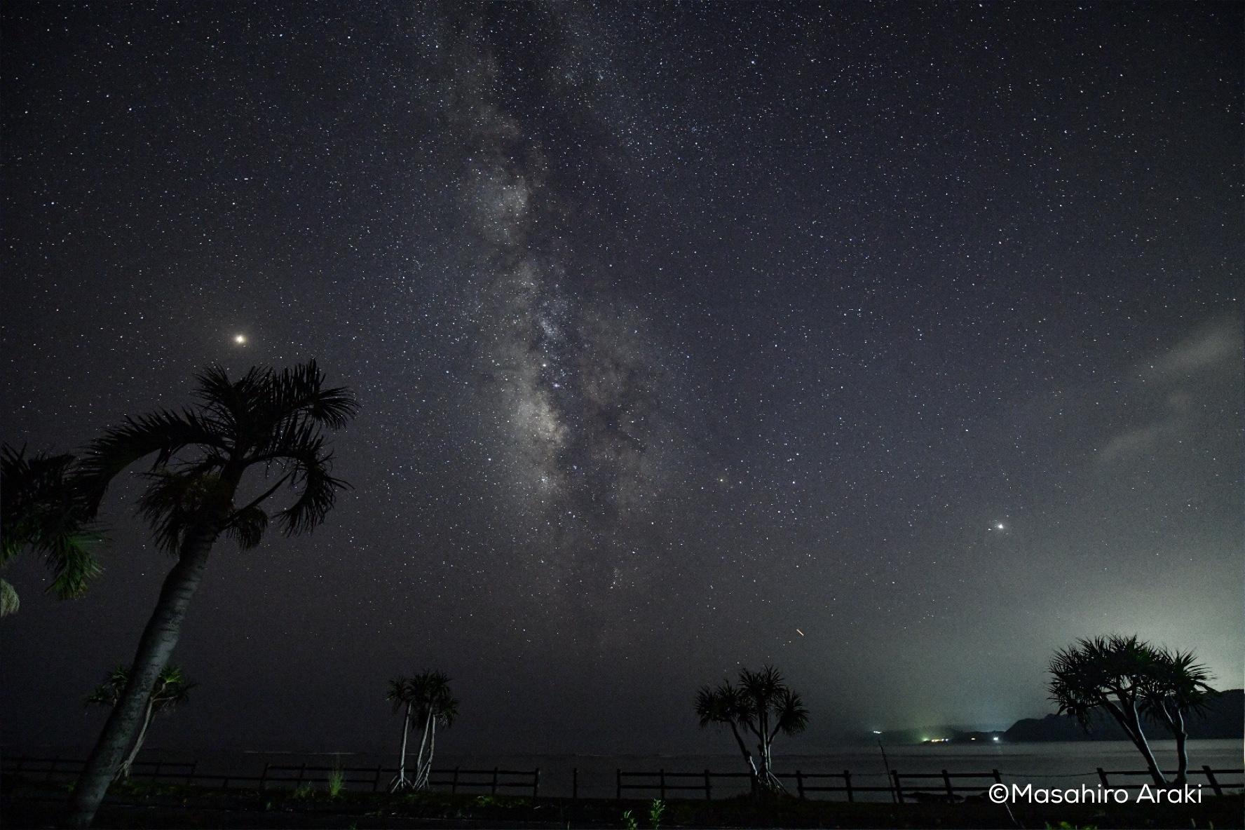笠利町北東部の神の子集落から見える星空の写真001_20 のコピー