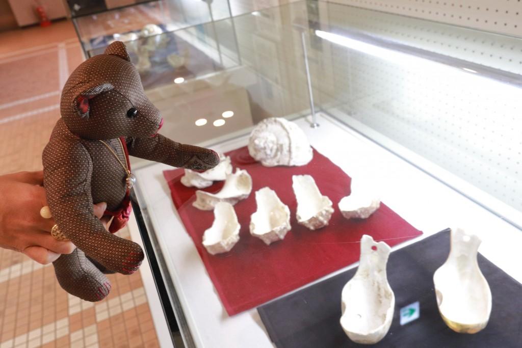 奄美博物館:夜光貝の貝匙