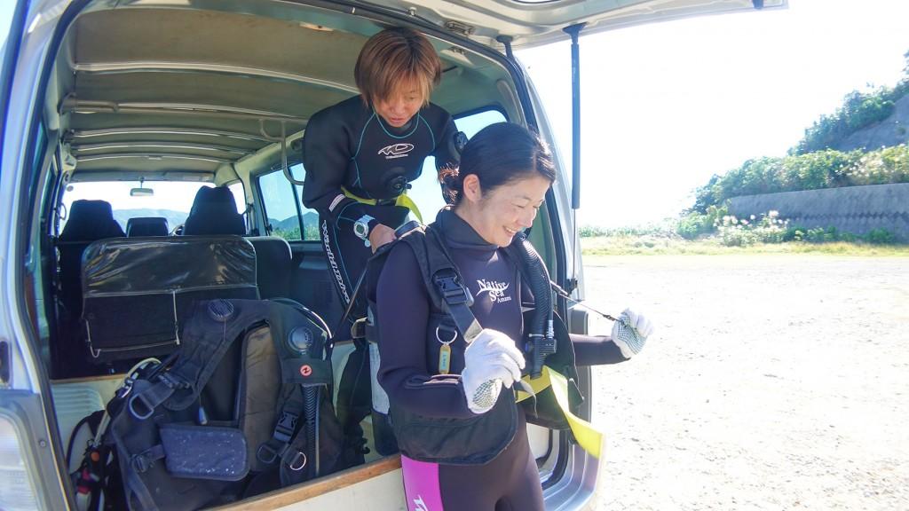 ネイティブシー奄美の体験ダイビング