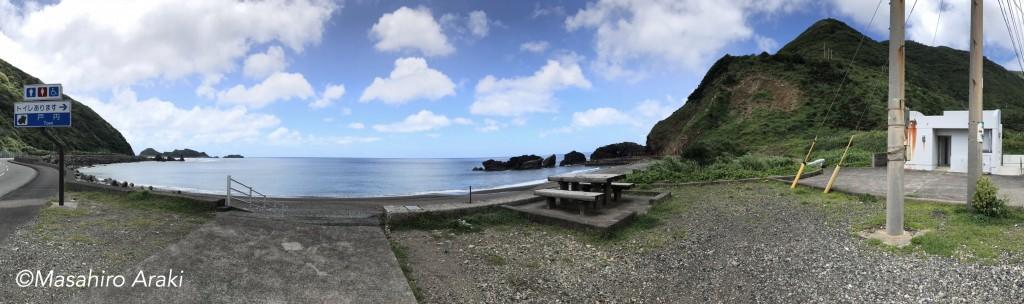奄美戸円海岸の風景