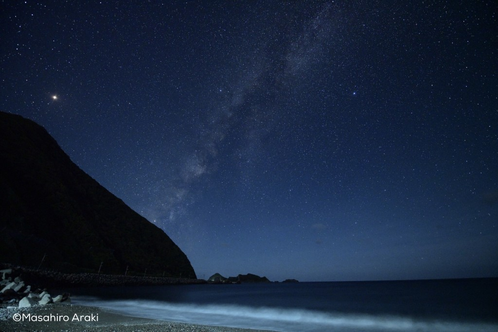 奄美戸円海岸の星空