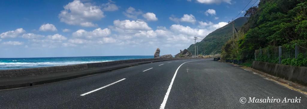 奄美ヒエン浜の奇岩・ロウソク岩