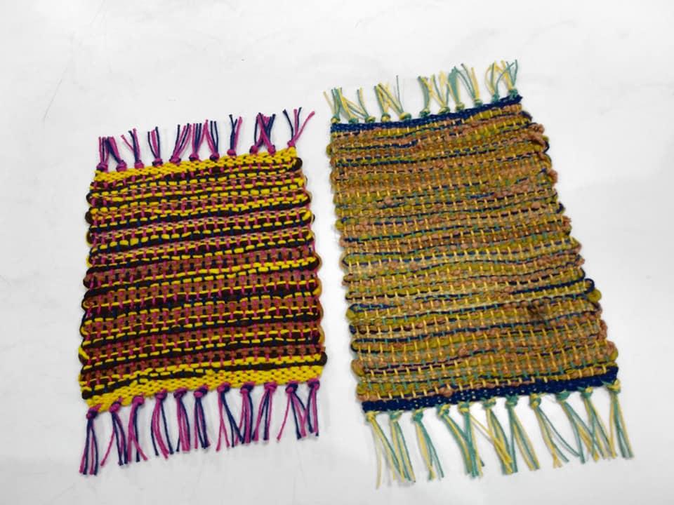 綿糸と糸芭蕉のコースター49050822_2370241593047142_4516651951378661376_n