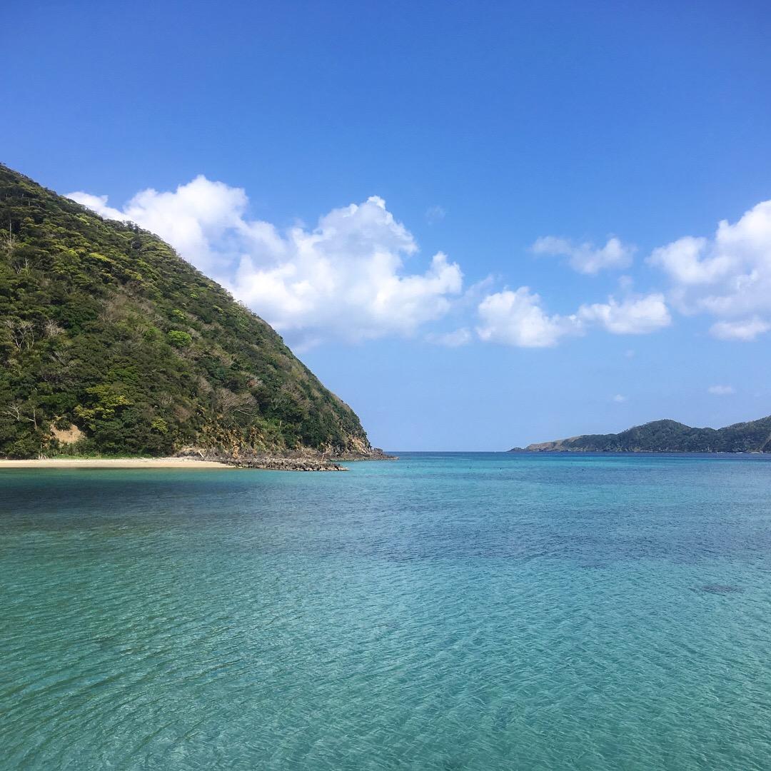 奄美大島春の海