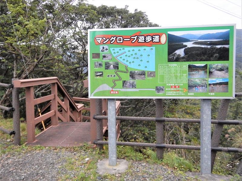 奄美 マングローブ茶屋 遊歩道の看板