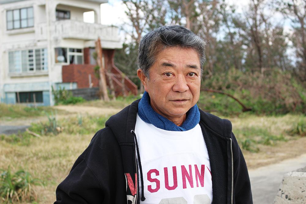 節田に詳しい区長の朝郁夫