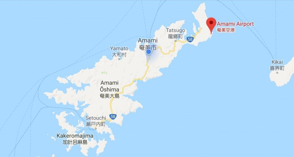 奄美大島の地図