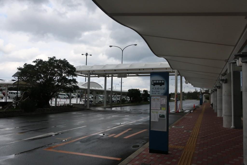 奄美大島空港のバス乗り場
