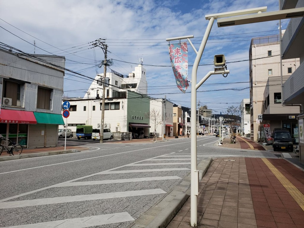 ( A speaker on the street, which the Amami FM programs are broadcasted from
