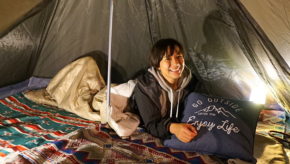 奄美大島のKOYAで冬キャンプするテント