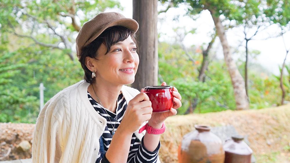 奄美大島の冬キャンプで朝コーヒー