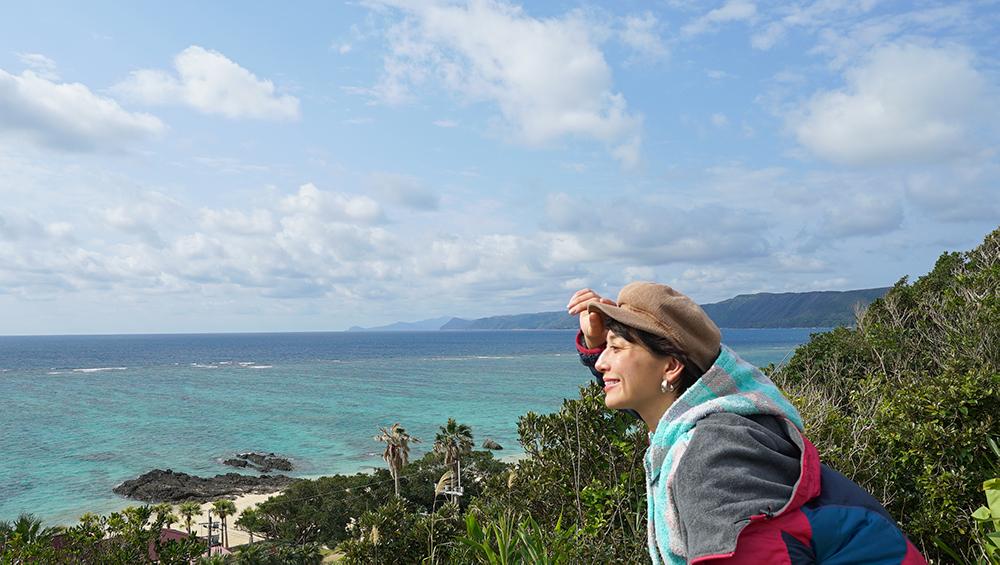 キャンプ場からの海が見えるロケーション