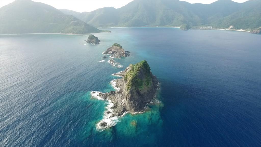 奄美大島 ドローン 空撮 amami drone 瀬戸内町 西古見