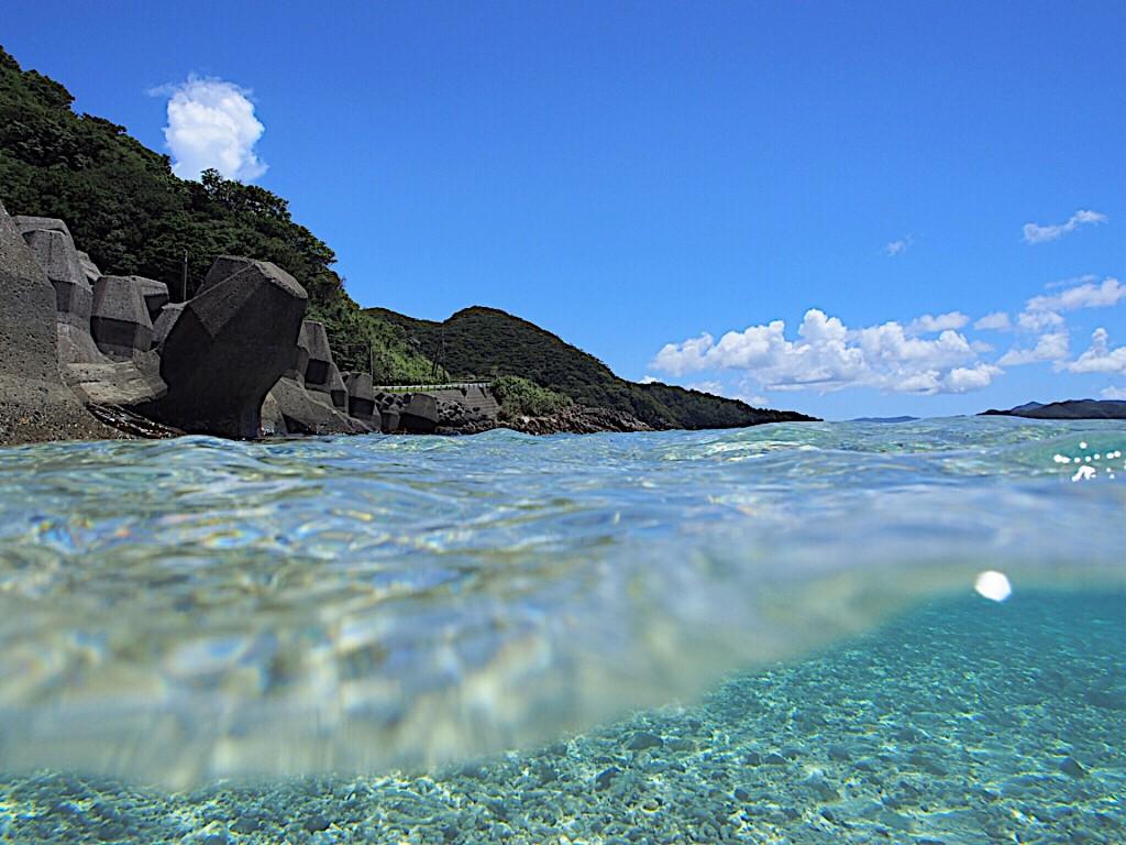 奄美の海と晴れた空