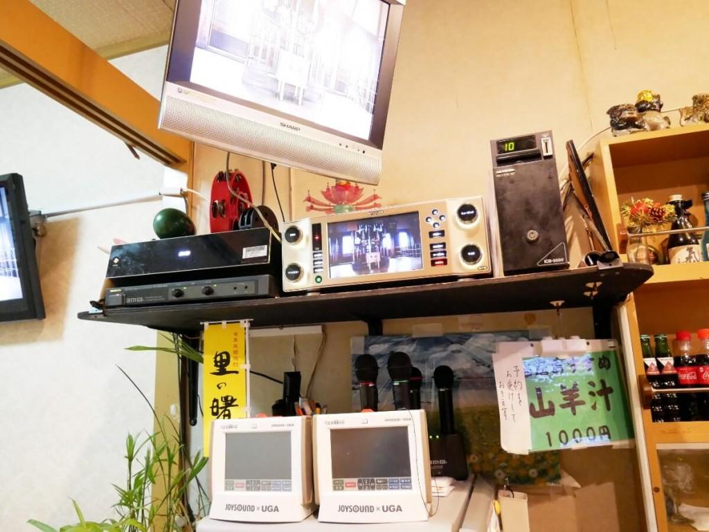 奄美屋仁川小料理屋たんぽぽのカラオケ