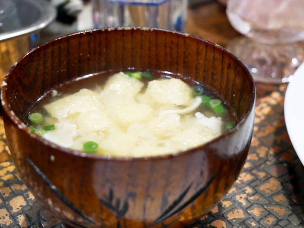 奄美の老舗喫茶店カフェテラス貴望のチーズハンバーグ定食味噌汁