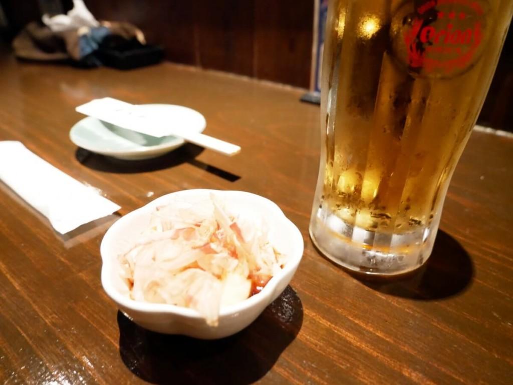 奄美大島の居酒屋若大将のお通し