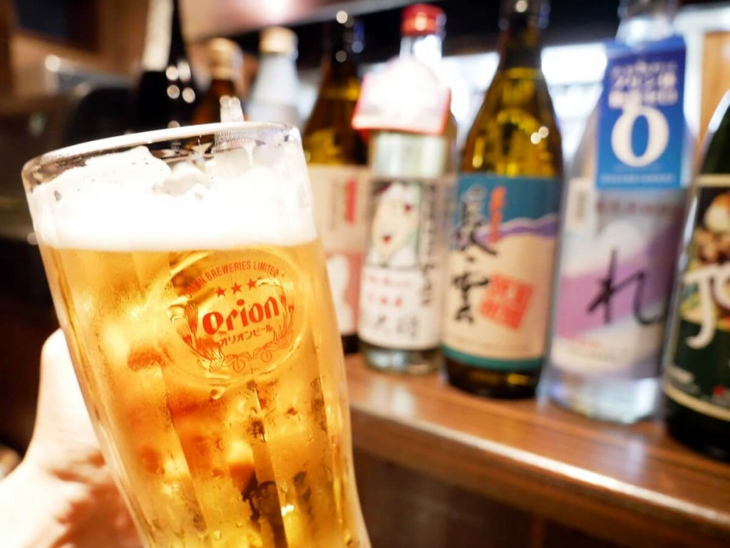 奄美大島の居酒屋若大将オリオンビール