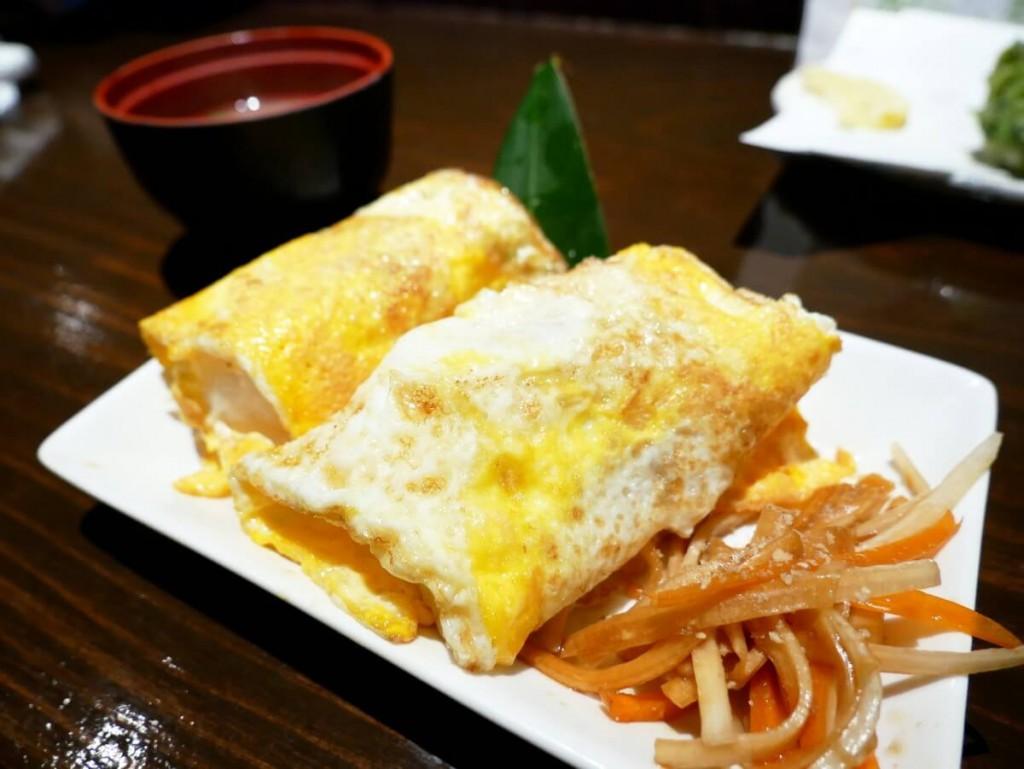 奄美大島の居酒屋若大将の豚味噌卵オニギリ